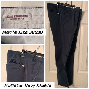 Men's Hollister Navy Khakis (32x30)